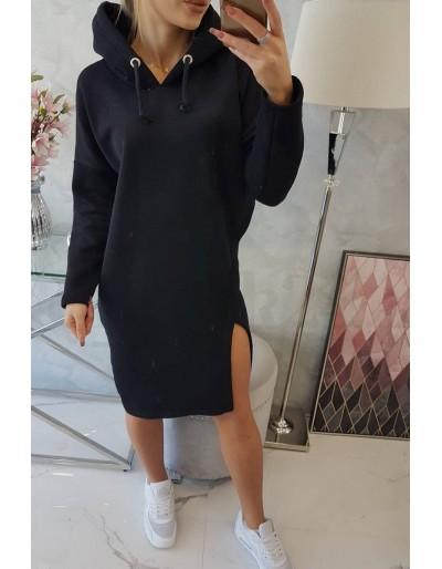Dámské mikinové šaty černé Butik Blansko