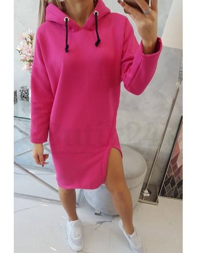 Dámské mikinové  šaty fuchsiová barva Butik 24
