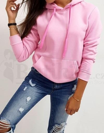 Dámská mikina s kapucí růžová Mia
