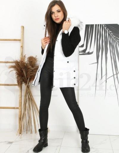 Dámská prošívaná vesta NERA bílá TY1598