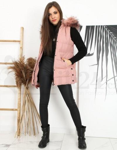 Dámská prošívaná vesta NERA růžová TY1600
