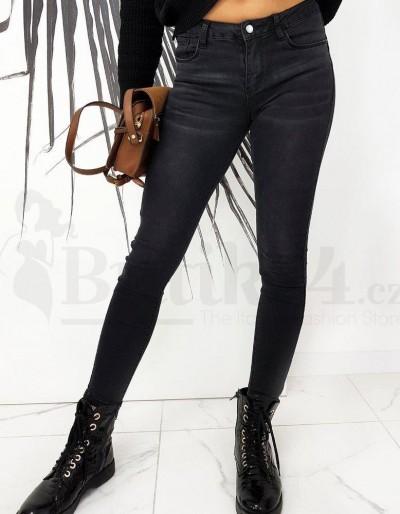 Dámské úzké džíny LOREN černé UY0670