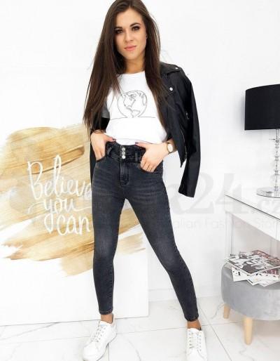 Spodnie damskie jeansowe TIANA ciemnoszare UY0675