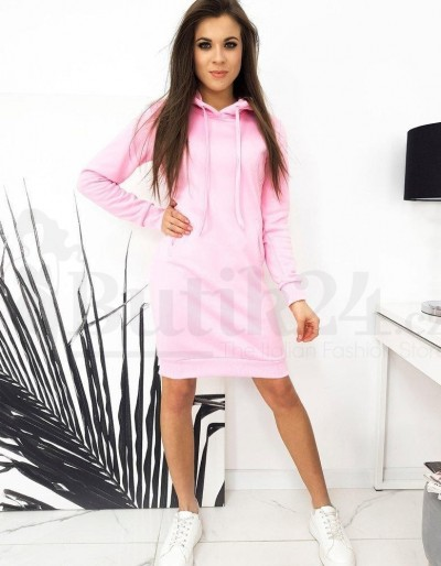 Dámské mikinové šaty GARNET różowa EY1428 Butik24.cz