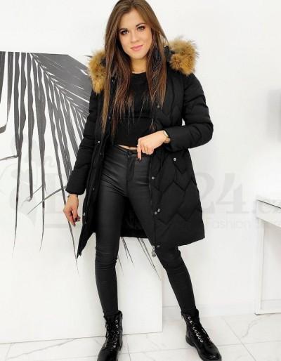 Dámský kabát / bunda MILVENA černý TY1587