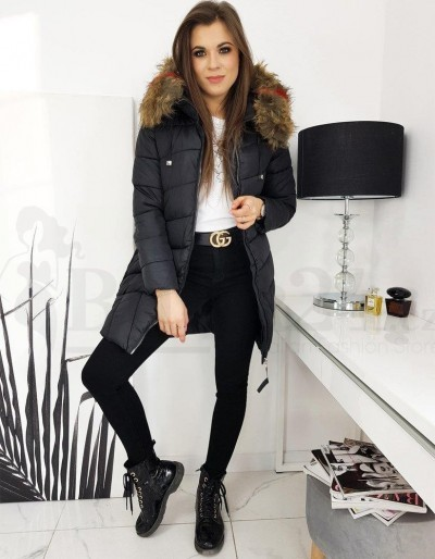 Dámská prošívaná bunda / kabát MIRA černá TY1594
