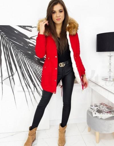 Červená dámská zimní bunda INETTA TY1602