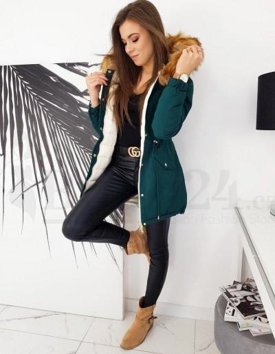 Zelená dámská zimní bunda INETTA TY1604