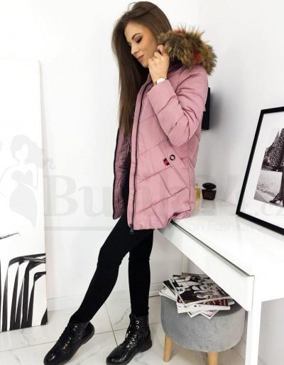 Dámská prošívaná bunda / kabát HEVIN růžová TY1630