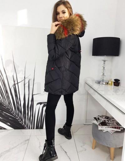 Dámská prošívaná bunda / kabát HEVIN černá TY1631