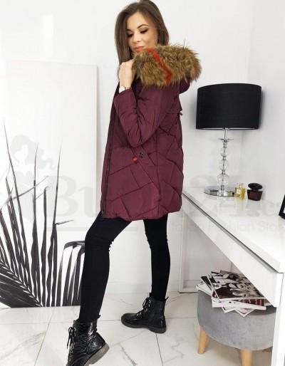 Dámská prošívaná bunda / kabát HEVIN vínová TY1632