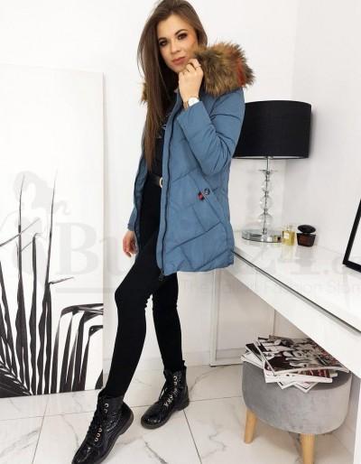 Dámská prošívaná bunda / kabát HEVIN modrá TY1634
