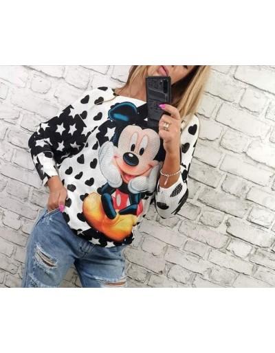 Dámský svetřík Mickey se srdíčky