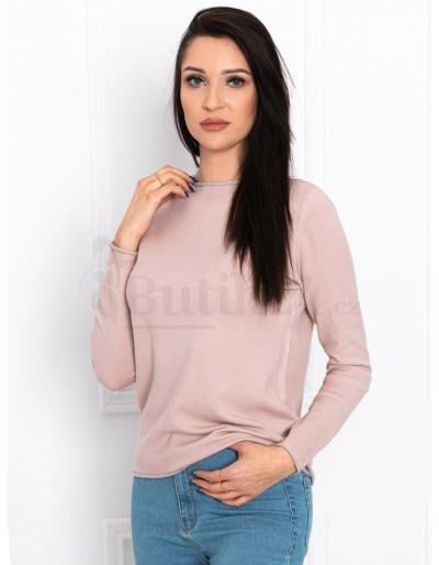 Dámský svetr ELR002 - práškově růžový