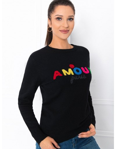 Women's sweater ELR007 - black