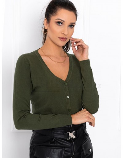 Dámský svetr ELR005 - khaki