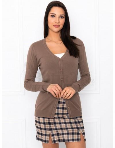 Dámský svetr ELR005 - hnědý