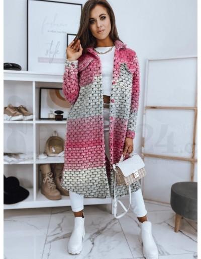 Dámský kabát CALLE růžový NY0412