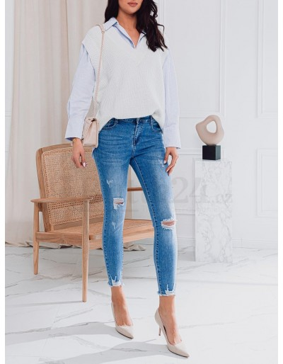 Dámské džíny PLR025 - modré