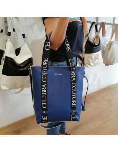 Dámská luxusní kabelka modrá