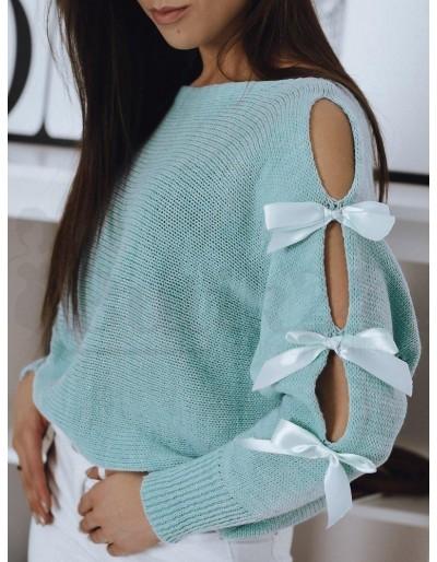 Sweter damski CHIOS turkusowy MY0935