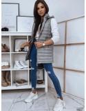 Prošívaná vesta pro ženy JESS světle šedá TY1741