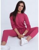 Dámský teplákový kostým JUSS růžový Dstreet AY0555