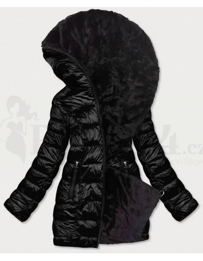 Dámská zimní oboustranná bunda s kožíškem