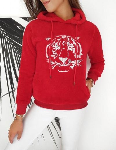 Červená dámská mikina TIGER BY0260
