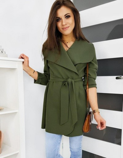Dámský kabát KIARA olivový NY0332