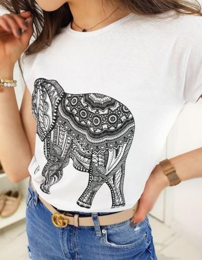 Dámské tričko ELEPHANT bílé RY1323