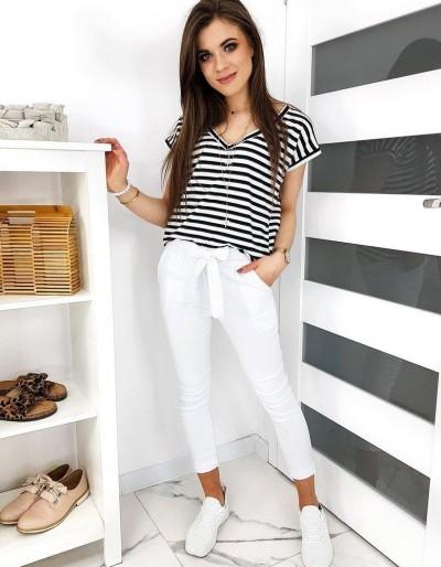 Dámské kalhoty LOVELY BASIC bílé UY0412