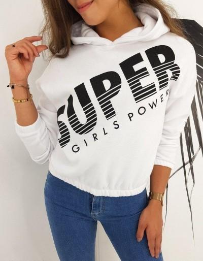 Dámská mikina SUPER GIRLS bílá BY0488