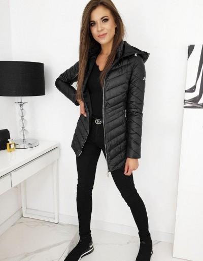 Dámský prošívaný kabát MINOS černý TY1289
