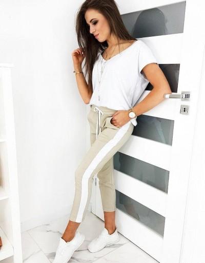 Dámské béžové kalhoty LETNÍ DEN UY0481