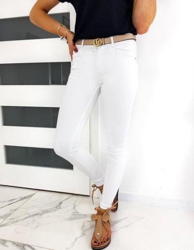 Dámské bílé džíny Skinny Fit LUMENE UY0490