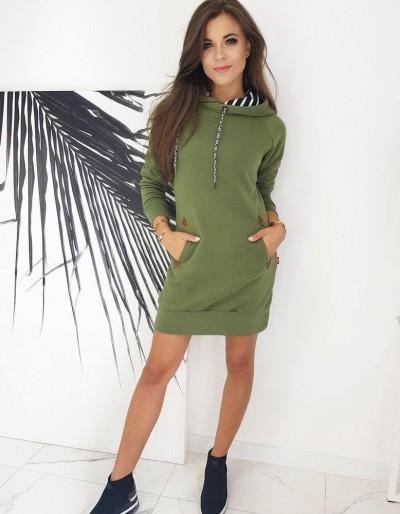 Šaty CARMENO, olivové EY1324