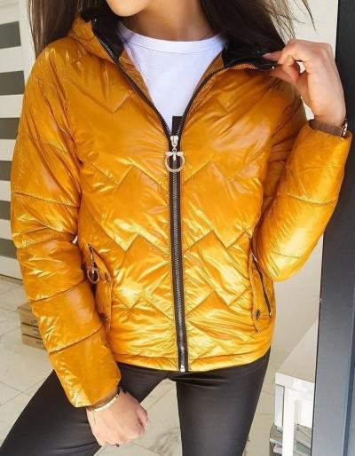 Dámská prošívaná bunda FLENCE žlutá TY1407