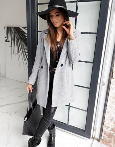 Dámský kabát SANLORINI šedý NY0346