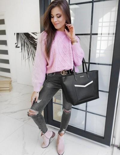 Dámský svetr DIVISION růžový MY0801