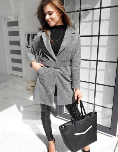 Dámský jednořadý kabát DARIO tmavě šedý NY0368