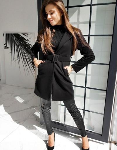 Dámský jednořadý kabát DARIO černý NY0369