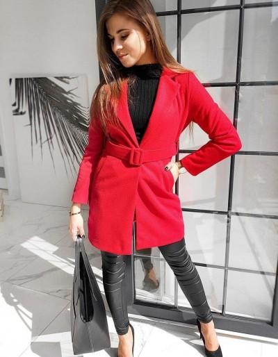 Dámský jednořadý kabát DARIO červený NY0370
