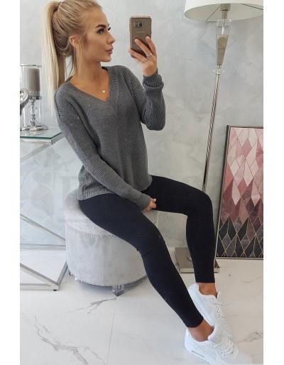 Dámský svetr tmavě šedý