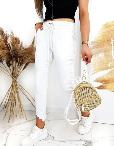 Dámské kalhoty DAVIDS bílé UY0521