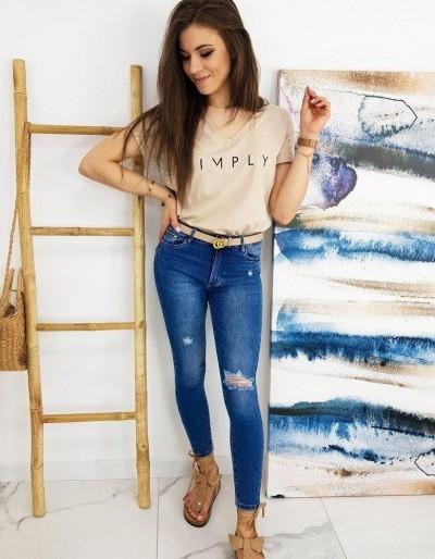 Modré džíny MORENO Skinny Fit UY0550