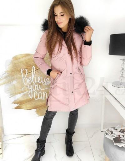 Dámský prošívaný kabát VISTEEP růžový TY1508