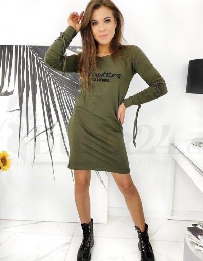 HOWKERS šaty olivové EY1373