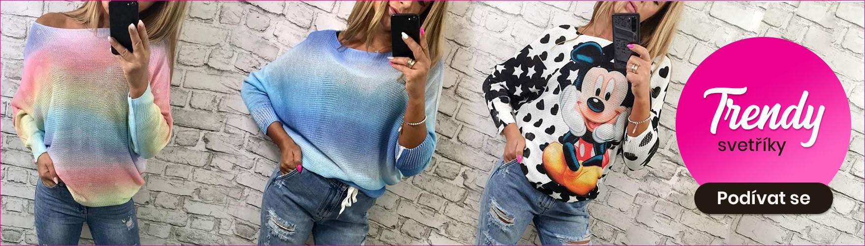 Dámská barevné svetříky